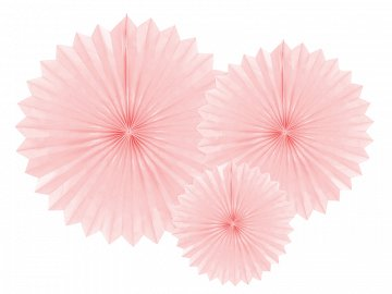 Tissue fan, light powder pink, 20-40cm (1 pkt / 3 pc.)