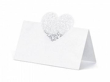 Place Cards Heart, 9 x 6.5cm (1 ctn / 50 pkt) (1 pkt / 10 pc.)