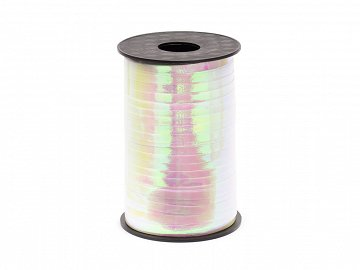 Plastic ribbon, iridescent, 5mm/225m