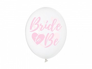 Balony 30cm, Bride to be, Crystal Clear (1 op. / 50 szt.)