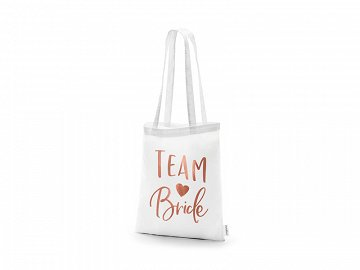 Tote bag - Team bride, white, 39x42cm