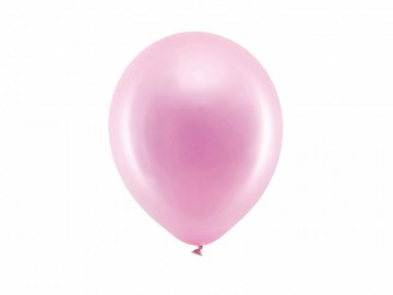 Rainbow Balloons 23cm metallic, pink (1 pkt / 100 pc.)