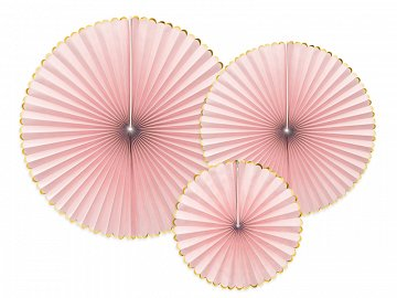 Decorative Rosettes Yummy, light pink (1 pkt / 3 pc.)