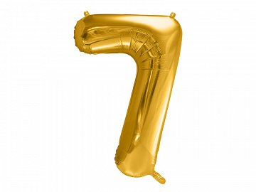 "Foil Balloon Number ""7"", 86cm, gold"