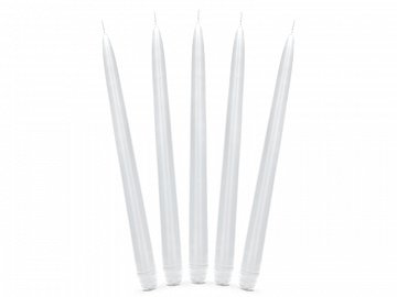 Taper candle, matt, white, 29cm (1 pkt / 10 pc.)