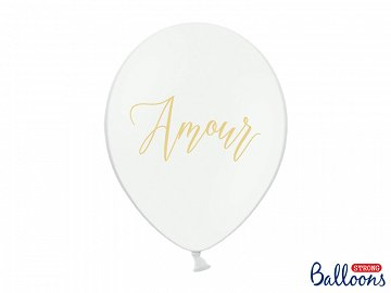 Balloons 30cm, Amour, Pastel Pure White (1 pkt / 6 pc.)