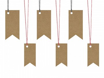 Gift tags Flag (1 ctn / 40 pkt) (1 pkt / 6 pc.)