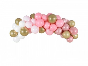 Balloon garland - pink, 200cm (1 pkt / 60 pc.)