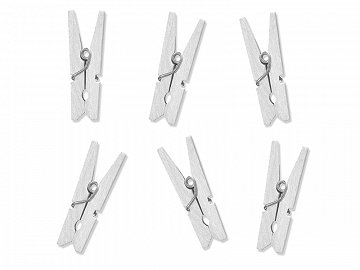 Wooden Pegs, white (1 pkt / 10 pc.)