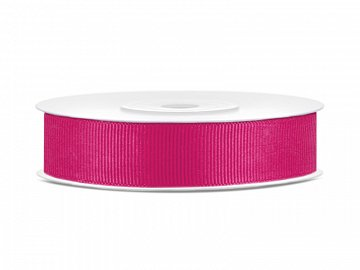 Grosgrain ribbon, dark pink, 15mm/25m (1 pc. / 25 lm)