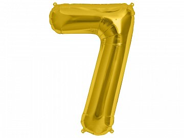 Microfoil balloon 34'' Number ''7'', gold