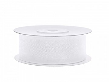 Chiffon Ribbon, white, 25mm/25m (1 pc. / 25 lm)