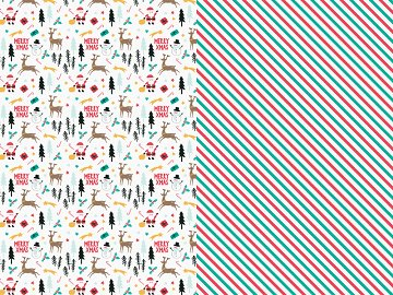 Wrapping paper Merry Xmas, mix, 70x200cm (1 ctn / 25 pkt) (1 pkt / 2 pc.)