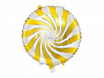 Foil balloon Candy, 35cm, gold