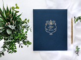 Guest Book Always & Forever, 20x24.5cm, navy blue, 22 pages