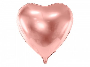 Foil balloon Heart, 72x73cm, rose gold