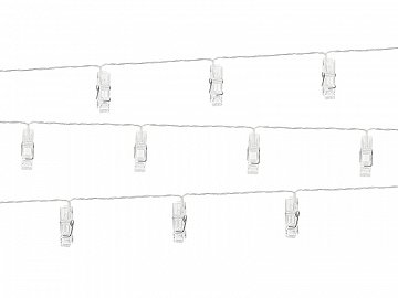 LED photo clips lights, clear, 1.4m