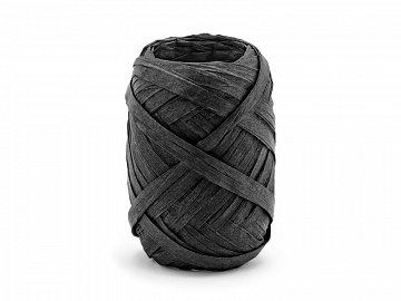 Raffia ribbon, 5mm/10m, black (1 ctn / 80 pc.)