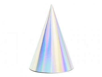 Party hats, iridescent, 10cm  (1 pkt / 6 pc.)