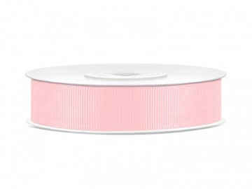 Grosgrain ribbon, light pink, 15mm/25m (1 pc. / 25 lm)