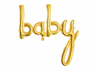 Foil balloon Baby, gold, 73.5x75.5cm