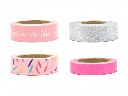 Decorative tape, mix (1 pkt / 4 pc.)
