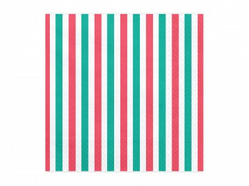 Napkins Stripes, 33x33cm (1 pkt / 20 pc.)