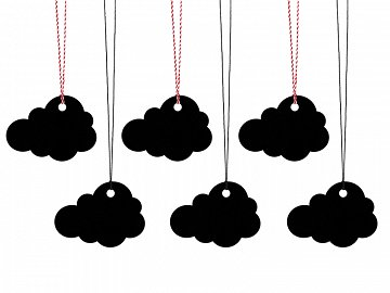 Gift tags Cloud (1 ctn / 40 pkt) (1 pkt / 6 pc.)