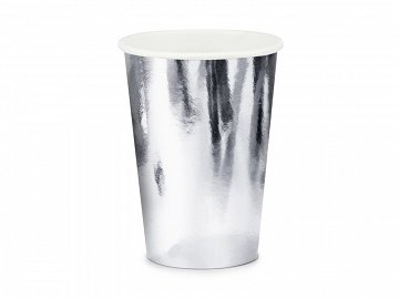 Cups, silver, 220ml  (1 pkt / 6 pc.)