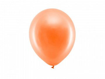 Rainbow Balloons 23cm metallic, orange (1 pkt / 100 pc.)