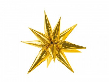 Foil balloon Star 3D, 70cm, gold