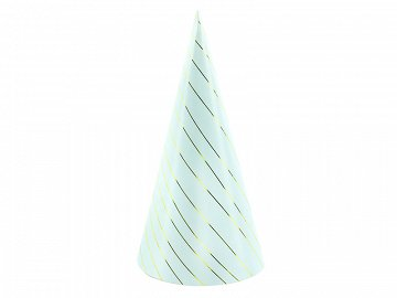 Party Stripes, light blue, 21cm (1 pkt / 6 pc.)