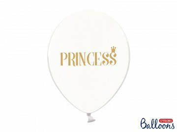 Balony 30cm, Princess, Crystal Clear (1 op. / 6 szt.)