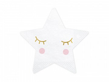 Napkins Little Star - Star, 16x16cm (1 pkt / 20 pc.)