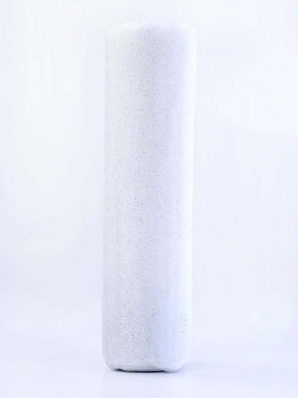 Organza biela s trblietkami 16cm