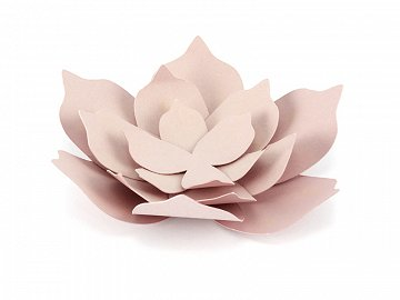 Paper decorations Flowers, powder pink (1 pkt / 3 pc.)