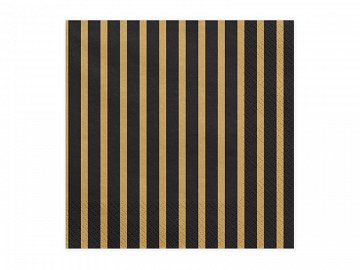 Napkins Stripes, 33x33cm, gold (1 pkt / 20 pc.)