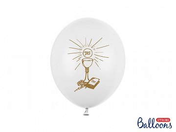 Balloons 27cm, Holy Communion, Pastel Pure White (1 pkt / 6 pc.)