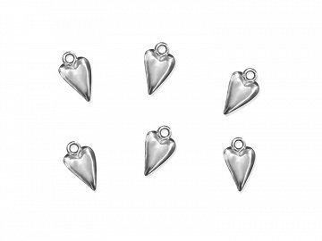 Embelishments Heart, silver, 19mm (1 pkt / 25 pc.)