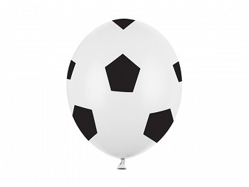 Balloons 30cm, Football, Pure White (1 pkt / 50 pc.)