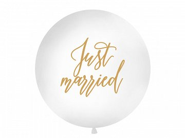 Giant Balloon 1 m, Just married, white
