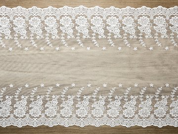 Lace, off-white, 0.45 x 9m (1 pc. / 9 lm)