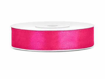 Satin Ribbon, dark pink, 12mm/25m (1 pc. / 25 lm)