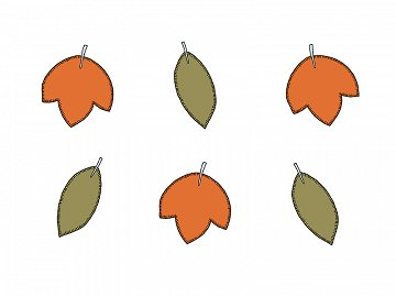 Paper decorations Woodland - Leaves (1 pkt / 6 pc.)