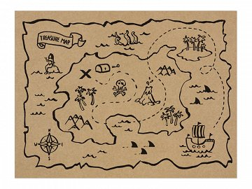 Paper placemats Pirates Party, 40x30cm (1 pkt / 30 pc. / 5 )