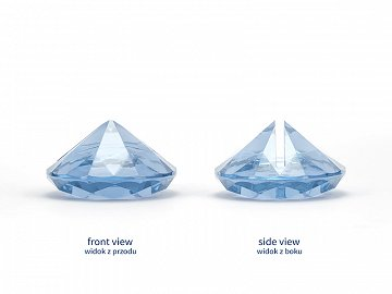 Diamond place card holder, sky-blue, 40 mm (1 pkt / 10 pc.)