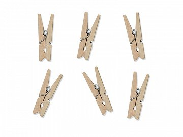 Wooden pegs, natural wood (1 ctn / 50 pkt) (1 pkt / 20 pc.)
