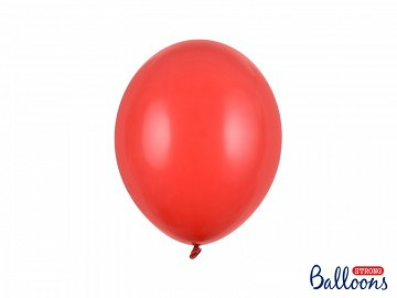 Strong Balloons 27cm, Pastel Poppy Red (1 pkt / 10 pc.)