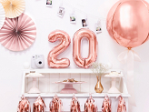 "Foil Balloon Number ""2"", 35cm, rose gold"