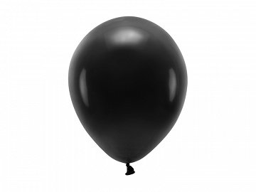 Eco Balloons 26cm pastel, black (1 pkt / 10 pc.)